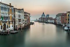 Grand Canal and Santa Maria della Salute Church Royalty Free Stock Photo