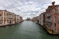 Grand Canal and the Santa Maria della Salute church Stock Photo