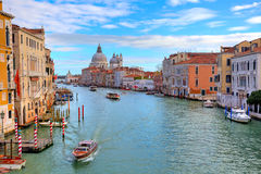 Grand canal and Santa Maria della Salute. Stock Photos