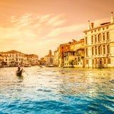 Grand Canal -scène, Venetië Royalty-vrije Stock Foto's