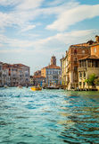 Grand Canal -scène, Venetië Stock Afbeelding
