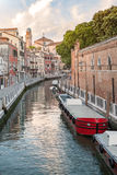Grand Canal scenery in antique Venice Stock Image