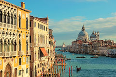The Grand Canal seen from the Accademia Bridge, Venice Stock Photos