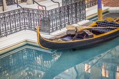 grand canal shoppes pool with gondola at las vegass venetian hot stock photography