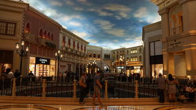 Grand Canal Shoppes at The Venetian Resort Hotel Casino in Las Vegas Royalty Free Stock Photography