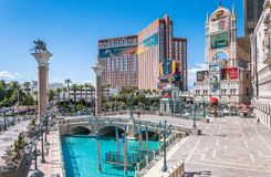 Grand Canal Shoppes at The Venetian and Treasure Island, Luxurious casino and hotel. Las Vegas Tourist Attractions, Nevada. Las Vegas, Nevada, USA - June 18 Royalty Free Stock Image