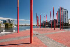 Grand Canal Square, Dublin Stock Photos