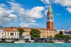 Grand Canal St Mark`s Campanile Venice Italy Stock Photography