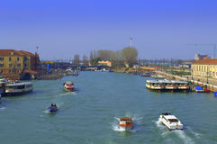 Grand Canal stations,Venice Stock Photography