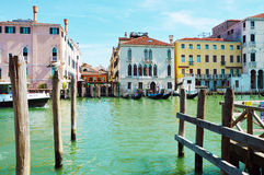 The Grand Canal in a sunny day with with ferries and gondolas, Venice, Italy summer 2016 Stock Photo