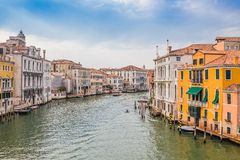 Grand Canal on sunny day, Venice Royalty Free Stock Image