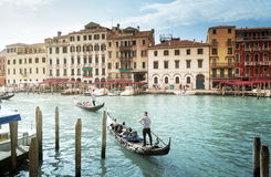 Grand Canal in sunny morning, Venice, Italy Royalty Free Stock Photography