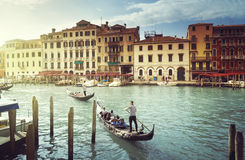 Grand Canal in sunny morning, Venice, Italy Stock Photography