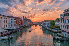 Grand Canal at Sunrise Stock Photo