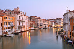 Grand canal at sunrise Royalty Free Stock Images
