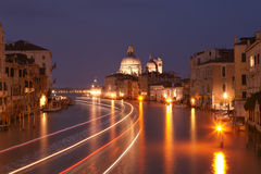 Grand canal after sunset Royalty Free Stock Photos