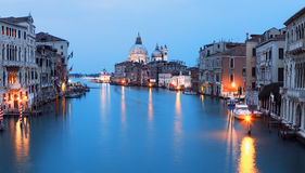 Grand canal at sunset Stock Images