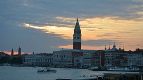 Grand Canal and sunset Stock Photo