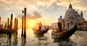 Grand Canal at sunset Royalty Free Stock Photo