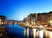 Grand Canal in sunset time, Venice Royalty Free Stock Image