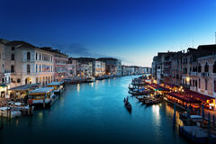Grand Canal in sunset time, Venice Stock Photos