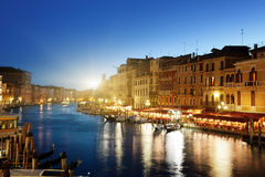 Grand Canal in sunset time Stock Image