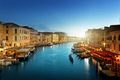 Grand Canal in sunset time Royalty Free Stock Images