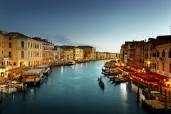 Grand Canal in sunset time, Venice Stock Photo