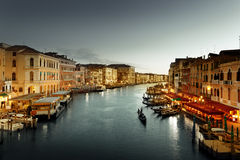 Grand Canal in sunset time Royalty Free Stock Photography