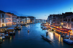 Grand Canal in sunset time, Venice Royalty Free Stock Photos