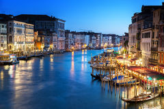 Grand Canal in sunset time, Venice Stock Images