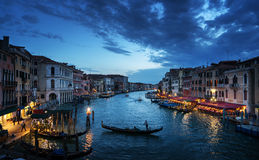 Grand Canal in sunset time, Venice, Italy Stock Photography