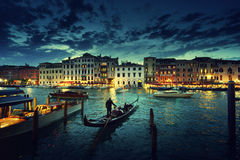 Grand Canal in sunset time, Venice, Italy Stock Image