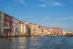 Grand Canal at sunset, Venice, Itally, summer Stock Photography