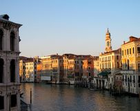 Grand Canal  in Venice. Grand Canal at sunset in Venice, Italy Stock Images