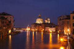 Grand canal after sunset Stock Images