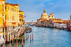 Grand Canal at sunset Royalty Free Stock Photography