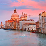 Grand Canal at sunset Stock Image