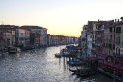 Grand Canal at sunset Royalty Free Stock Image