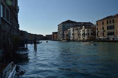 Grand Canal At Sunset In Venice. royalty free stock images