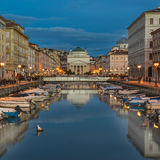The Grand Canal in Trieste Royalty Free Stock Photo