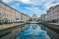 The Grand Canal in Trieste, Italy Stock Images