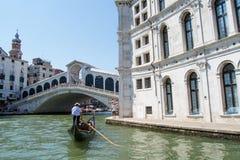 Grand Canal und die Architektur in Venedig, Italien Lizenzfreies Stockfoto