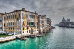 Grand Canal under a gray sky Stock Images