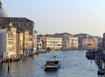 Grand Canal van Scalzi-degli Scalzi van Brugponte royalty-vrije stock afbeelding
