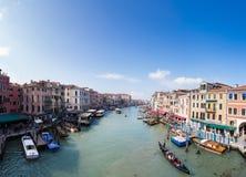 Grand Canal Venedig Royaltyfri Foto