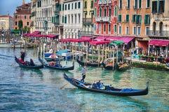Grand Canal, Venedig Arkivbilder