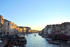 Grand Canal Venedig arkivbild