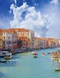 Grand Canal. Venedig. Italien. stockfotos