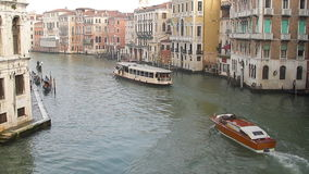 Grand Canal in Venetië stock footage